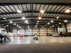 High Bay LED Light Airplane Hangar