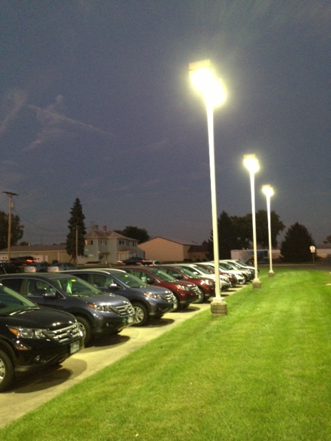 automobile LED parking lot light