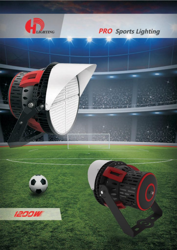 LED Stadium Lights with remote wireless control, optics up to 240 degrees and laser pointing