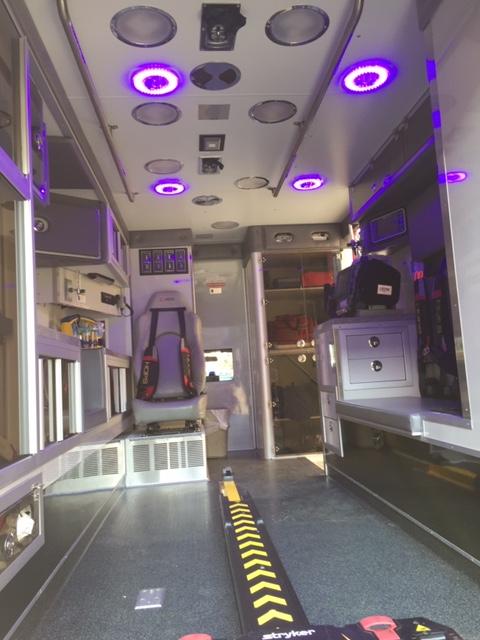 Patient Compartment Blue Light Technology